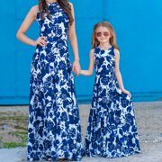 Multitrust Women's Girl Family Matching Clothes Mother and Daughter Floral Dresses Outfits