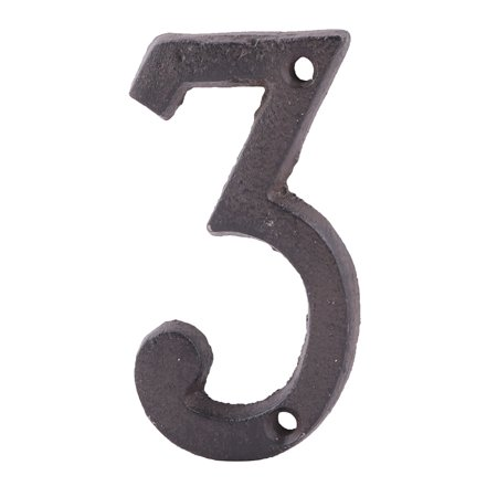 - Home Street Cast Iron 3 Shaped Plate Number Door Wall Mounting Entrance Label