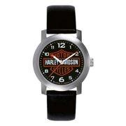 Men's Bar & Shield Leather Wrist Watch 76A04, Harley Davidson