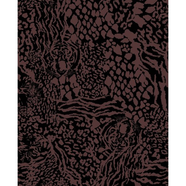 Leopard Tiger Print Notebook: Blank Lined Composition