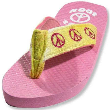 Sole Kool - Girls Peace Flip Flop MULTICOLOURED / Large - Girls Ipanema Flip Flops