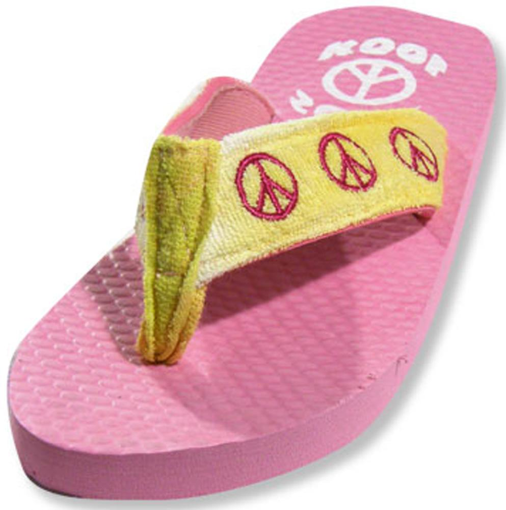 Sole Kool - Girls Peace Flip Flop MULTICOLOURED / Large