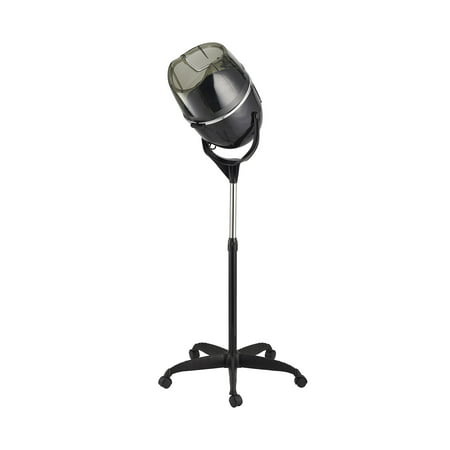 Mini Salon Stand (Professional 1000W Adjustable Hooded Floor Hair Bonnet Dryer Stand Up Rolling Base with Wheels Salon Equipment )