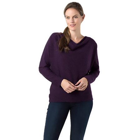 Scrunch Neck Sweater - Annalee + Hope Womens Heathered Cowl Neck Pullover Sweater