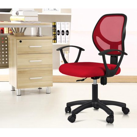 yaheetech adjustable swivel computer desk chair fabric mesh office