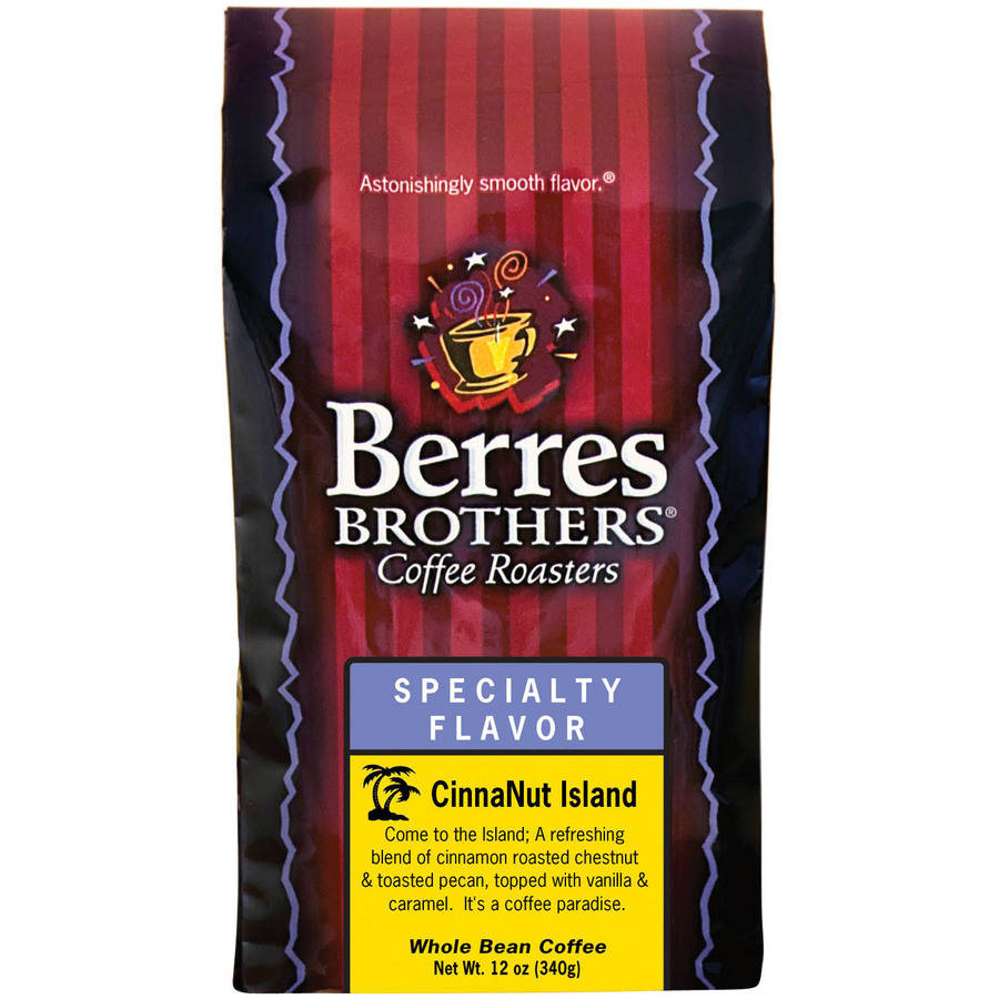 Berres Brothers Coffee Roasters Specialty Flavor CinnaNut Island Whole Bean Coffee, 12 oz