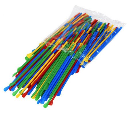 Spoon Straws Unwrapped Case of 1000 for Shaved Ice Snow Cones