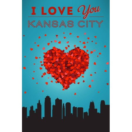 I Love You Kansas City, Missouri Print Wall Art By Lantern Press - Party City Kansas City Missouri