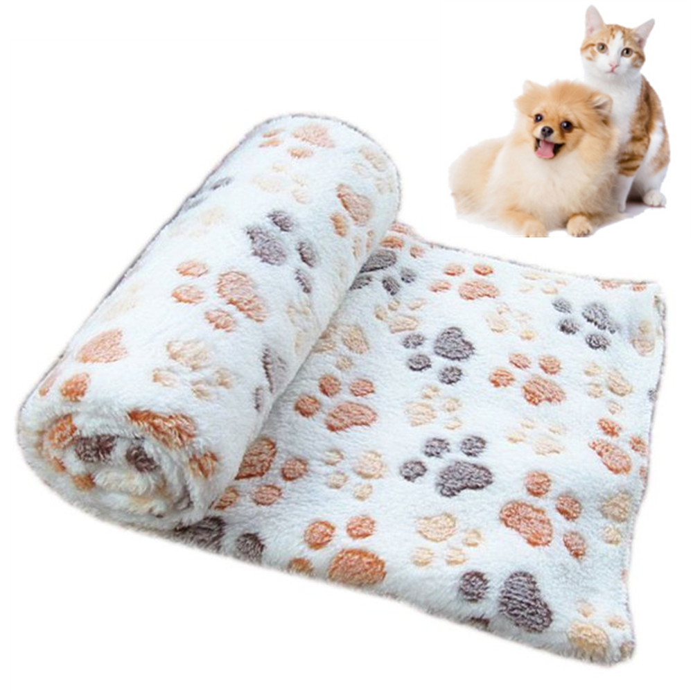 Fluffy Lightweight Washable Fuzzy Fleece Pet Blankets for Puppy Cats Small Dogs Indoor Dog Blanket Super Soft Mat 2 Pack