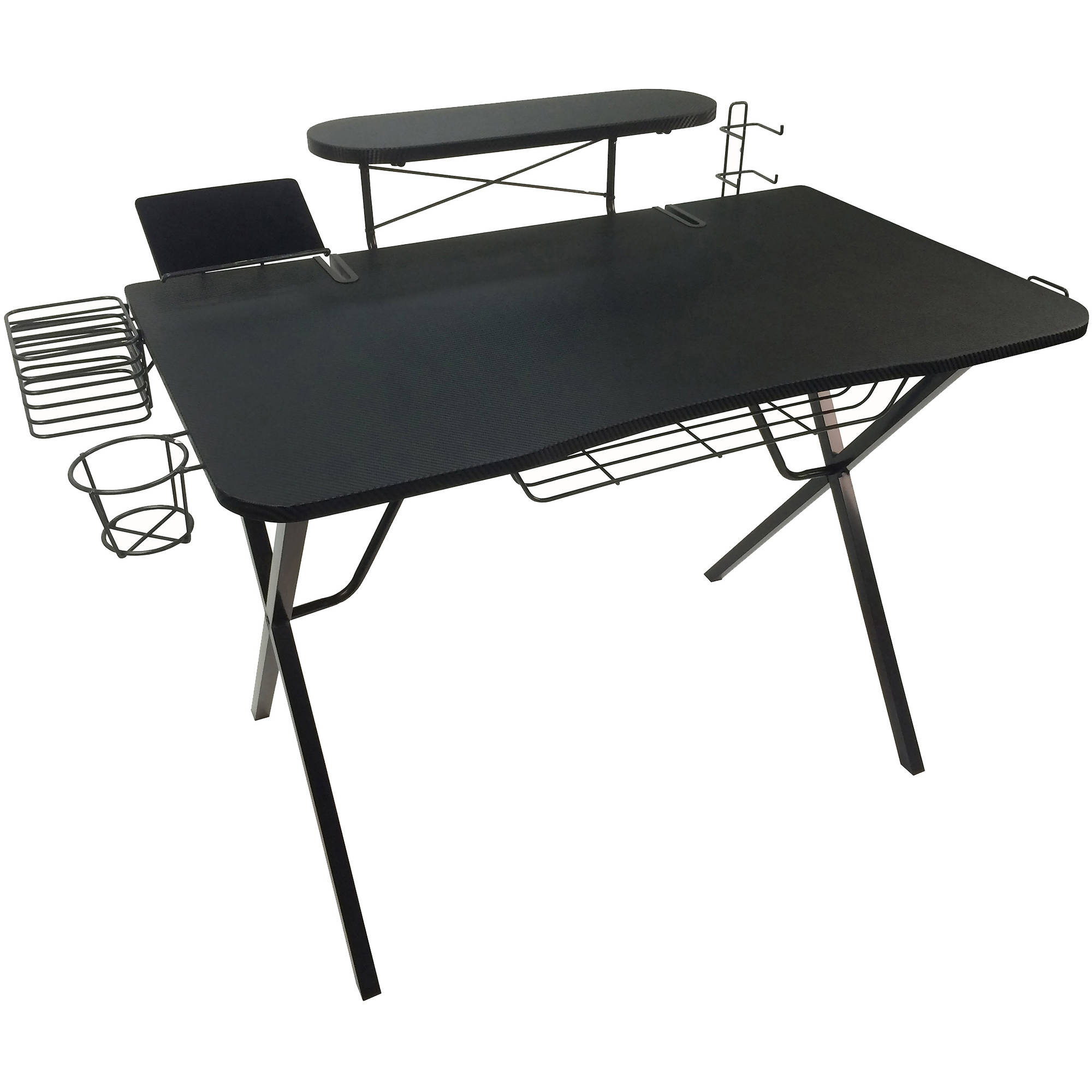 Fantastic Atlantic Professional Gaming Desk Pro With Built In Storage Metal Accessory Holders And Cable Slots Download Free Architecture Designs Grimeyleaguecom
