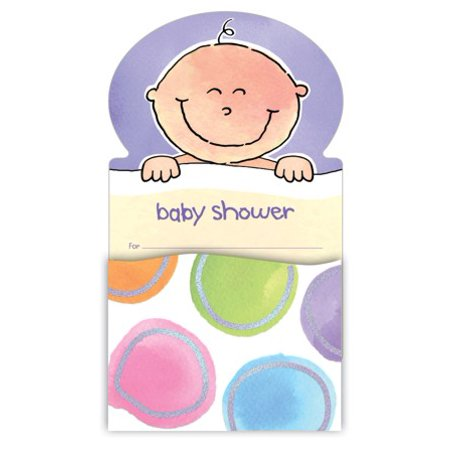 baby me baby shower invitations 8 ct