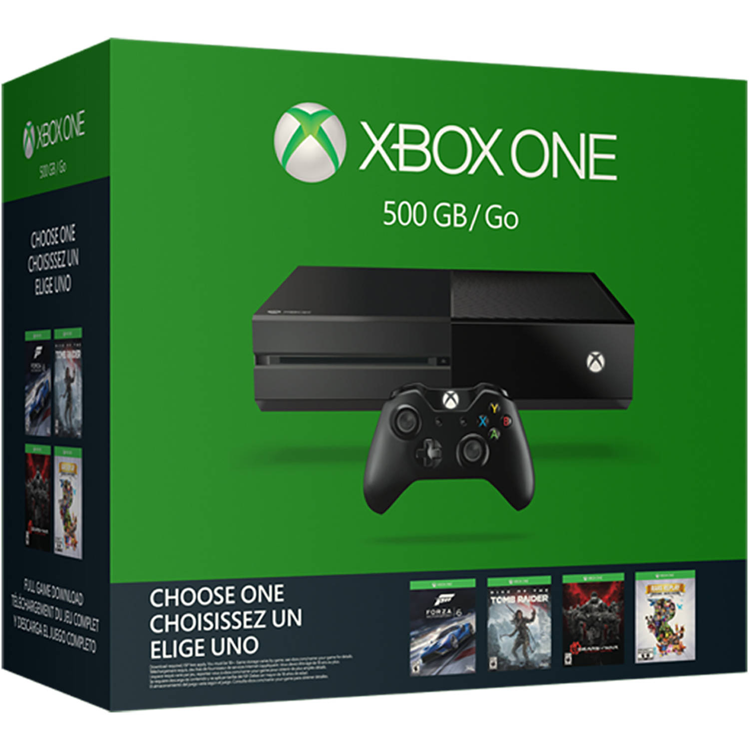 Xbox One 500GB Console Name Your Game Bundle