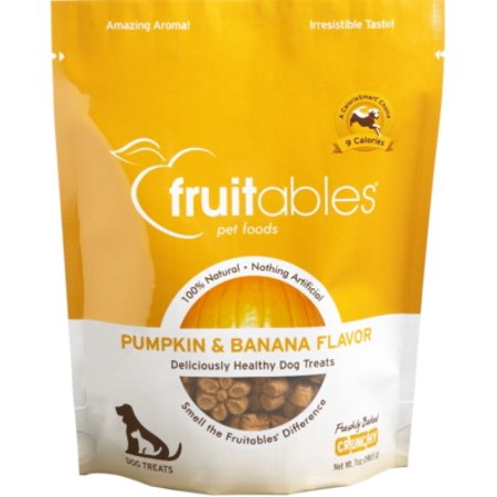 Fruitables Dog Treats Pumpkin & Banana Flavor, 7 oz (Dog Dressed As Pumpkin)