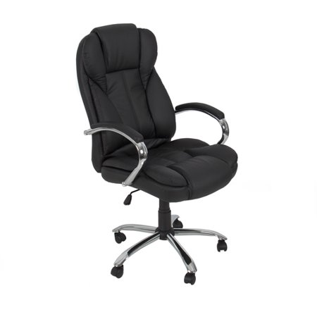 Take Offer PU Leather High Back Executive Office Task Chair w/ Metal Base for Computer Desk Before Special Offer Ends