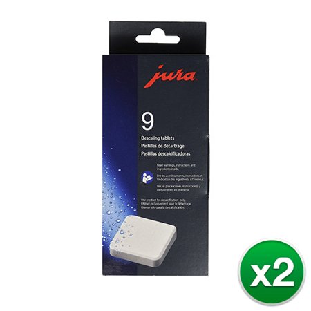Jura Decalcifying Tablets (Original Decalcifying Tablets For All Jura Automatic Espresso Machines - 2 Pack)
