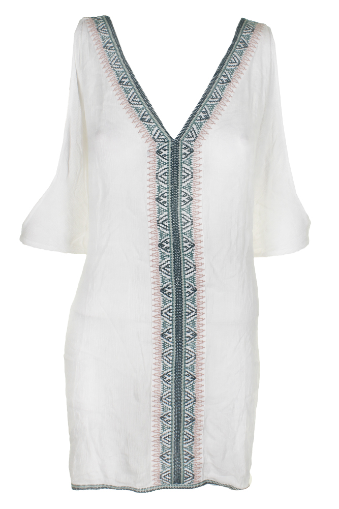 ONEILL Womens Cyrus Cold-Shoulder Cover-Up Dress