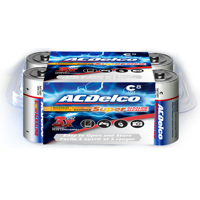 ACDelco C Cell Batteries, Super Alkaline C Battery, 8-Count