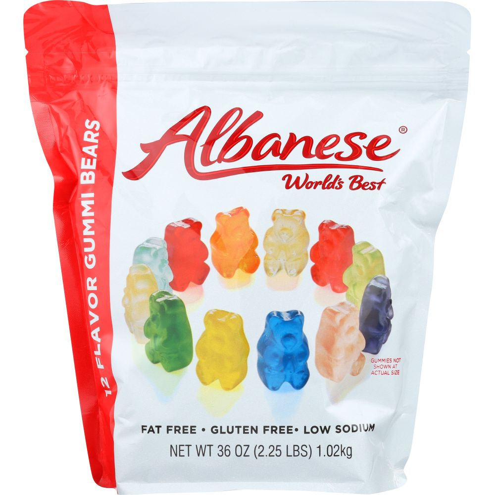 Albanese Gummy Bears 12 Flavor, 36 Oz (Pack Of 6) by