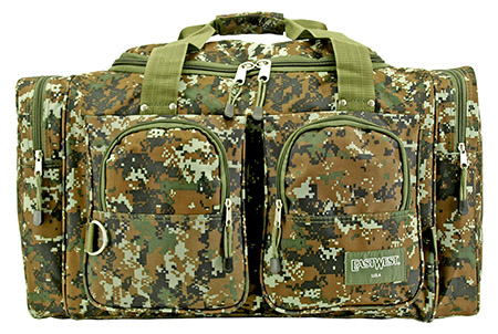 Camping Duffle Bag Green Digital Camo by