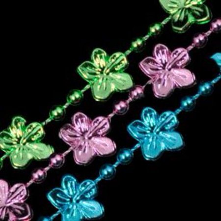 Hibiscus Flower Necklace (Hibiscus Flower Bead Necklace Assorted Pack of)