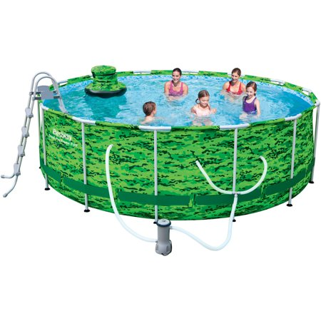 Bestway 14 39 X 48 Camo Steel Pro Frame Above Ground Swimming Pool Set