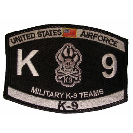 USAF AIR FORCE MILITARY K-9 CANINE TEAMS MOS PATCH POLICE DOG MP SECURITY DEFEND