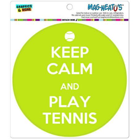 Keep Calm And Play Tennis Sports Automotive Car Refrigerator Locker Vinyl Magnet