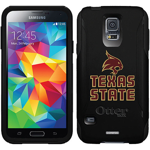 Texas State Bobcat Logo Design on OtterBox Commuter Series Case for Samsung Galaxy S5