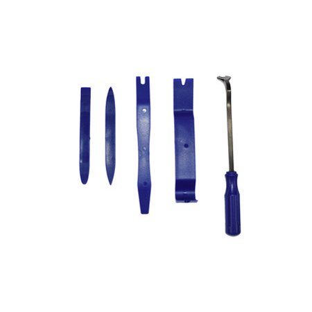 Auto Trim Removal Tool Kit for Upholstery and Interior Repair 5-Piece Set Blue Pony Interior Upholstery Set