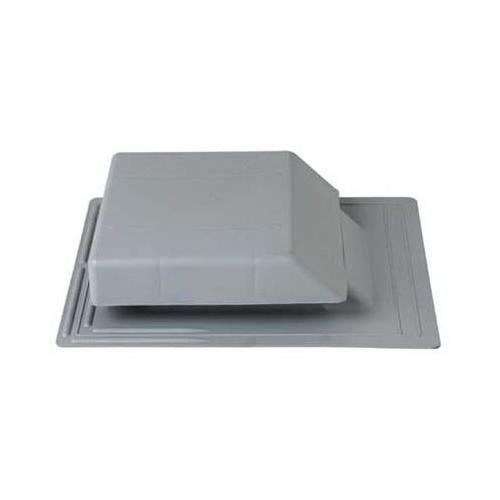Construction Metals PRV50LG Plastic Roof Vent 50 Sq. In. Net Free Vent Area Light Grey - Quantity 1