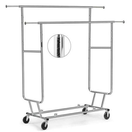 Collapsible Garment Rack (Yaheetech Commercial Grade Rolling, Collapsible Garment Rack)