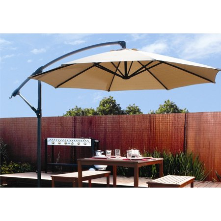Barton Patio 10 Hanging Umbrella Off Set Outdoor Parasol 4 Colors