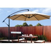 Patio 10 Hanging Umbrella Off Set Outdoor Parasol 4 Colors