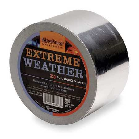 Weather Foil Tape - Nashua 330X 72mm x 46m All Weather Foil Tape, Silver