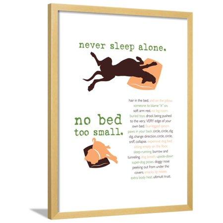 Never Sleep Alone Framed Print Wall Art By Dog is Good