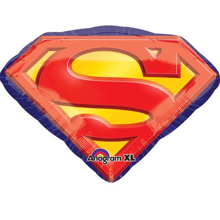 Superman Logo Foil Balloon - Superman Balloon