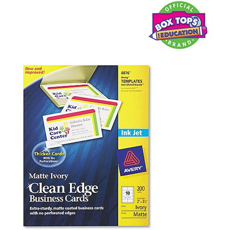 Avery 8876 clean edge inkjet business card walmartcom for Inkjet business cards