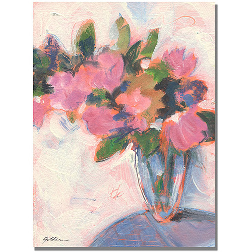 "Trademark Art ""Pink Floral Reverie"" Canvas Art by Shelia Golden"