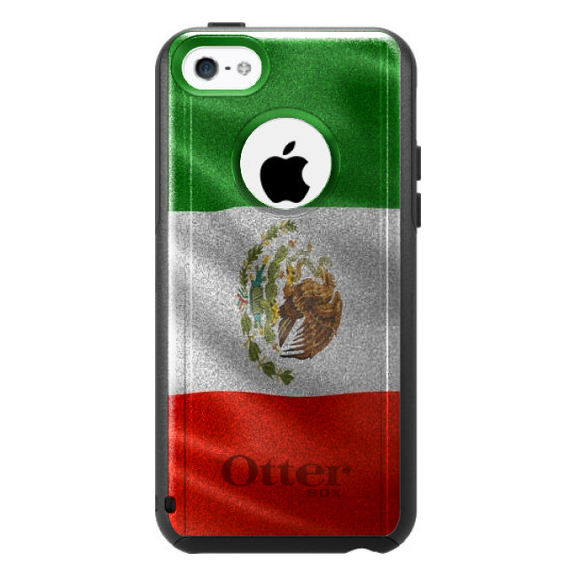 DistinctInk Custom Black OtterBox Commuter Series Case for Apple iPhone 5C Red...