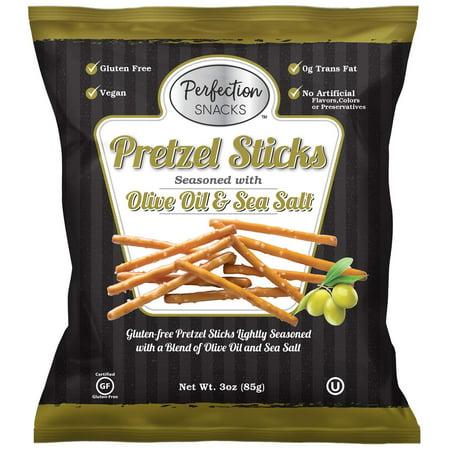 Pretzel Perfection Gluten Free Pretzel (Olive Oil & Sea Salt, 6 Count / 3oz) Olive Oil & Sea Salt 3 Ounce (6