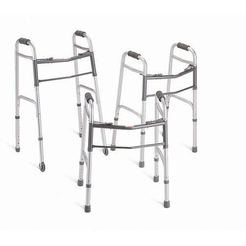 Youth Two-Button Folding Walkers with 5-in Wheels