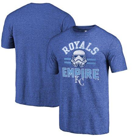 Kansas City Royals Fanatics Branded MLB Star Wars Empire Tri-Blend T-Shirt - Royal