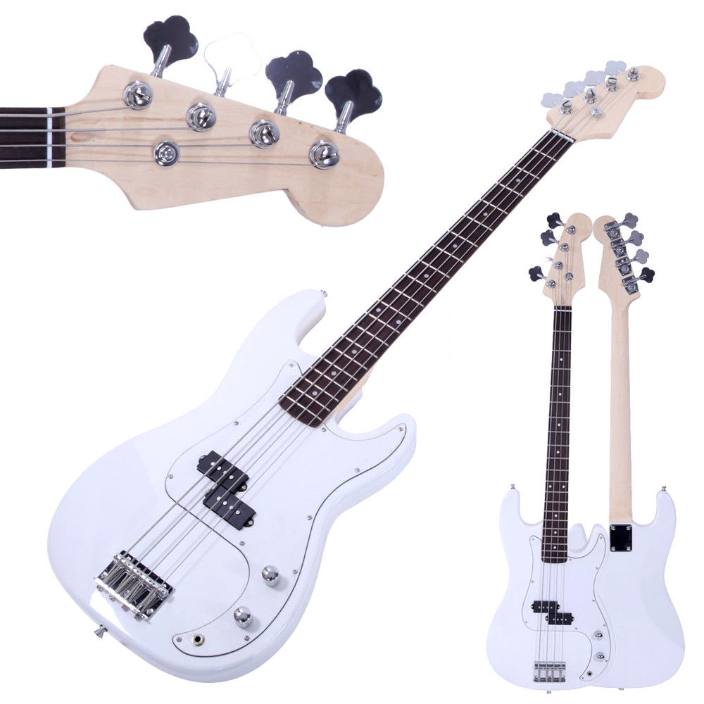 ghp white basswood rosewood thick strings large string tension electric bass guitar. Black Bedroom Furniture Sets. Home Design Ideas