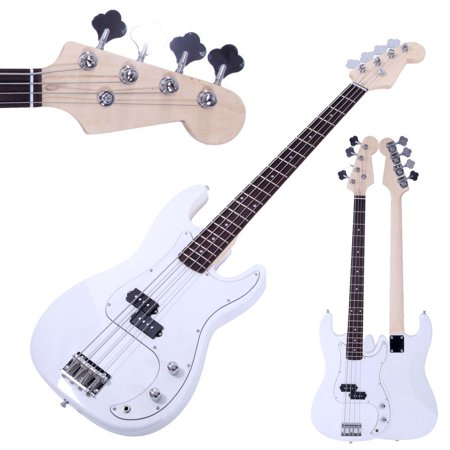 GHP White Basswood & Rosewood Thick Strings & Large String Tension Electric Bass Guitar ()