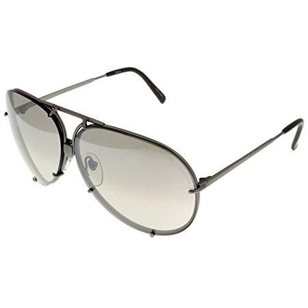Porsche Design Sunglasses Aviator Interchangeable Grey 8478 6610 Size: Lens/ Bridge/ Temple: (Sunglasses Interchangeables Temples)