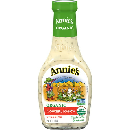 (2 Pack) Annie's Organic Cowgirl Ranch Dressing, 8 fl oz