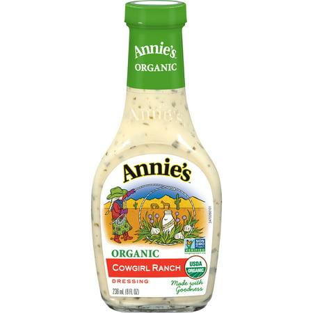 Organic Ranch - (2 Pack) Annie's Organic Cowgirl Ranch Dressing, 8 fl oz Bottle