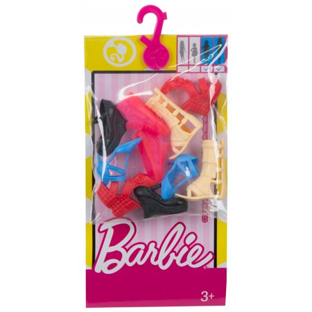 Barbie Shoe Pack with 5-Pairs Included, Tall & Curvy Body Type