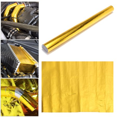 Engine Auto Car Part (20'' x 20'' Gold Reflective Heat Shield Tape For Thermal Racing Engine Car Parts )