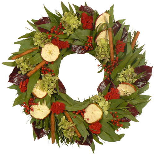 Urban Florals Cinnamon Apple and Spice Wreath